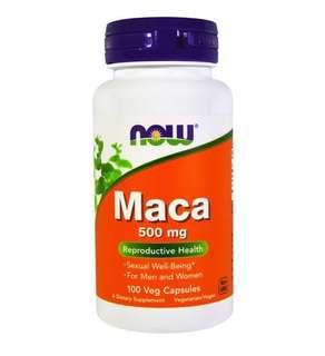 美國Now Foods Maca 秘魯瑪卡500毫克,100粒膠囊