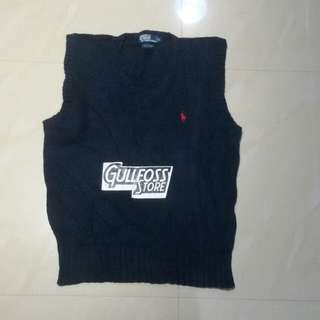 Polo Ralph Lauren Knitted Vest Second Rompi Rajut Bekas