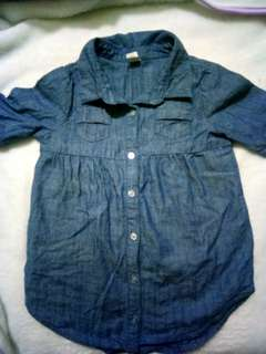 Chambray dress 12 mos