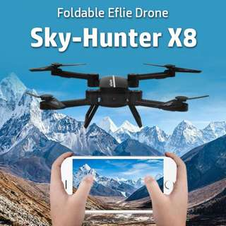 【Sky-Hunter】【X8】 Foldable Drone ★ 2M Camera ★ WiFi FPV 720P ★ Flying 10 Mins ★ With 2 Battery