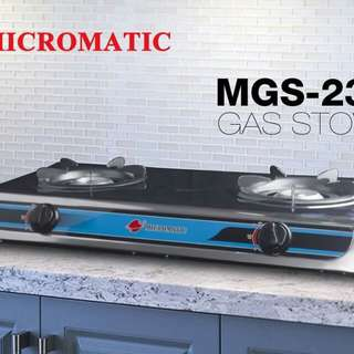 Micromatic double burner gas stove