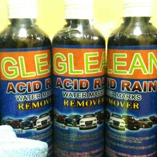 Glean acid rain remover with microfiber cloth