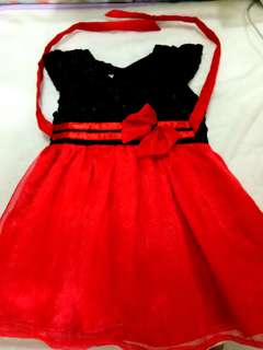 Red and black dress 12 mos
