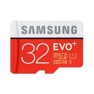 MEMORY SAMSUNG MICRO SD 32 GB CLASS 10 EVO PLUS MICRO SDHC MICRO