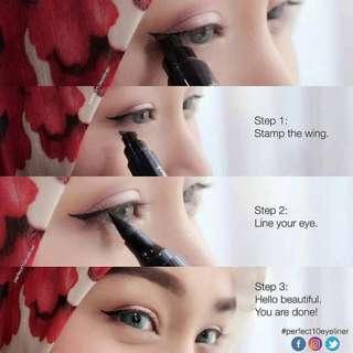 Perfect 10 eyeliner (cat eye look)