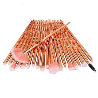 20 PIECES ROSE GOLD BRUSHES