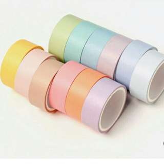 ONHAND: 12PCS PASTEL WASHI TAPE SET