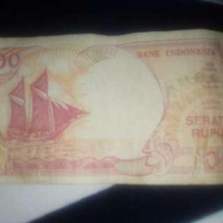 Dijual uang kertas 100 th92