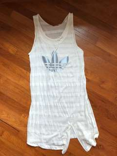Adidas dress or sleeves tee (really depends on your height)