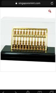24K Gold-Plated with Swarovski Crystal Fengshui Abacus