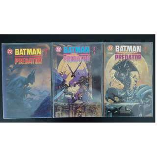 Batman vs. Predator (1991 1st Series) Set of 3 Complete Mini Series Deluxe Prestige Format Edition