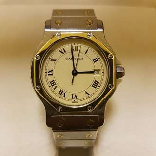 Cartier santos octagon watch men