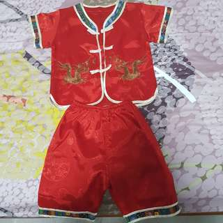 Chinese Costume top and bottom (for toddler 1-2 year old)