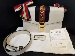 Gucci sylvie 白色 S size