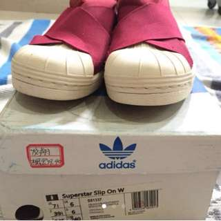 (RE PRICE) ADIDAS SLIP ON MAROON ORIGINAL
