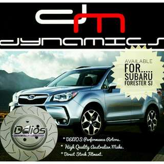 Subaru Forester SJ: Front DELIOS Performance Rotors & BREMBO Performance Brake Pads Upgrade