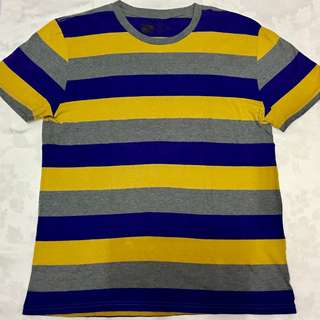 Yellow, Blue, and Gray Stripes T-Shirt