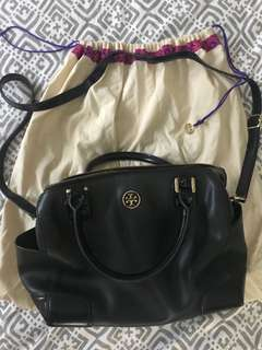 Tory Burch Black Doctor's Bag w/ Sling