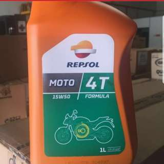 Repsol Moto 4T 15W/50 Motorcycle Engine Oil
