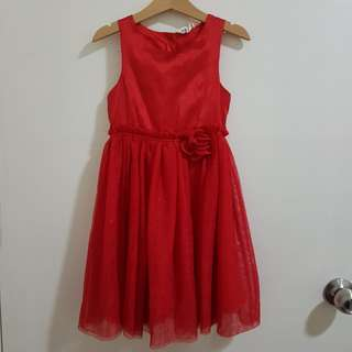 H&M red party dress