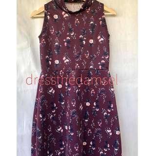 Floral Sleeveless Neoprene Dress