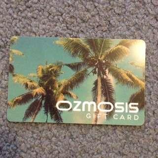 Ozmosis gift card - $75