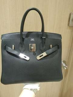 Hermes birkin 30 in black