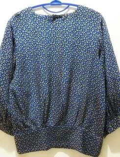 Baju Lengan Panjang & Rok Motif Biru#carousellcintabumi