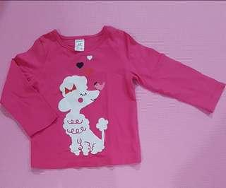 Kaos pink anak cewek 1 th