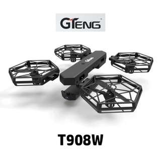 【GTENG】【T908W】 Foldable Drone Mini RC Selfie ★ 2M Camera ★ WiFi FPV 720P ★ Flying 10 Mins