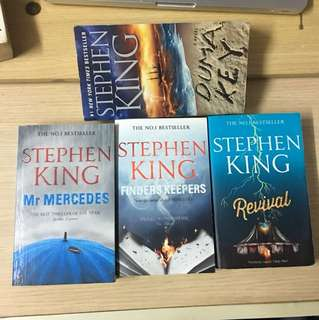 4 stephen king books , $100