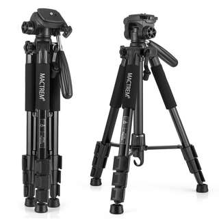 Camera Tripod, Mactrem Papuma PT55 55-Inch Lightweight Travel Tripod with Bag Pan Head for Digital SLR Canon Nikon Sony Olympus Samsung DV Video etc. (Black)  -- 638