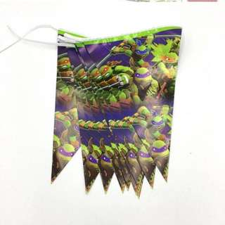 💥 TMNT Party Supplies - flag banner bunting / party deco
