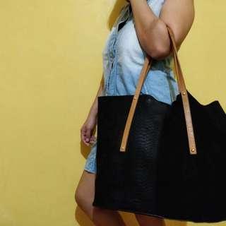 River Island Black Leather Bag