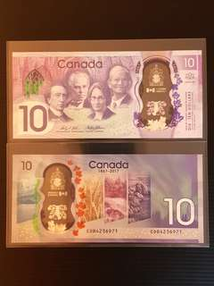 Bank of Canada unveils new $10 banknote for Canada 150 celebrations