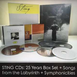Price Drop! Sting CDs (Pristine Condition): 25 Years Boxset + Songs from the Labyrinth + Symphonicities