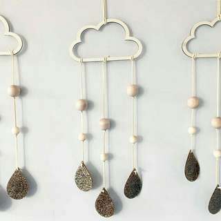 Pre-order Hollow cloud drops drip wall decorations