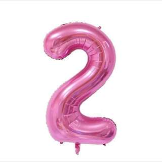 HELIUM NUMBER BALLOONS (PINK)