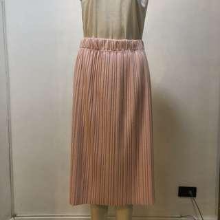 Forme blush pleated skirt