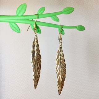 Greek Leaf Boho Dangling Earrings