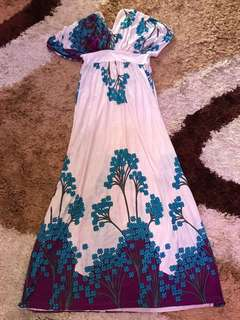 Flowery Maxi Dress (Long)