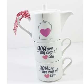 BUD (Netherlands) 你是我杯茶 陶瓷水杯水壺套Tea for 2 set You Are My Cup Of Tea porcelain