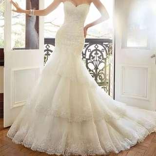 多層魚尾婚紗