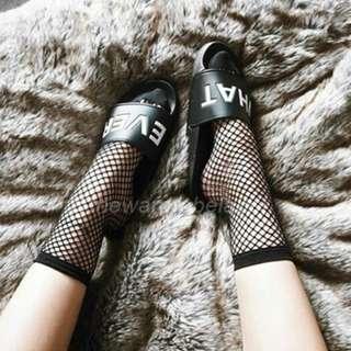 INSTOCKS Fishnet Grid Ankle Socks (without mesh)