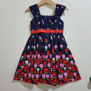 Sweet Elegance navy and red tulip dress