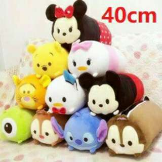 *FREE DELIVERY to WM only / Ready stock, clearance* 40cm Disney bolster each +-40*18.5cm shown design Daisy, Chip, Mike/color. Free delivery is applied for this item.