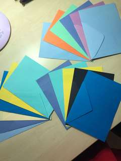 Brand new Colours paper with matching envelope