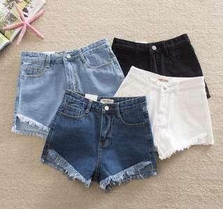 High Waist Denim Shorts ( S/M )