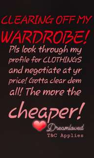 CLEARING CLOTHES DRESS TOPS