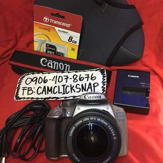 Canon 1300d silver with 18-55mm is lens and accesories wifi ready